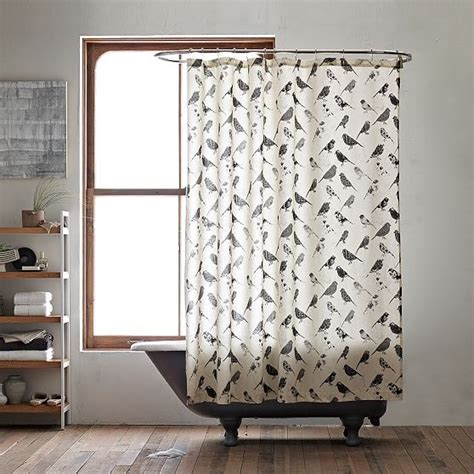 Bird Shower Curtains Bird Collage Shower Curtain Modern Shower Curtains By West Elm
