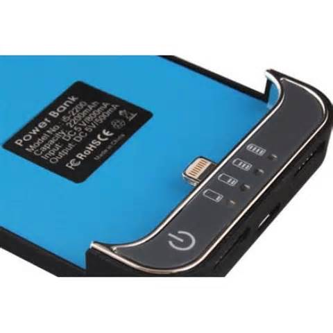Iphone 5 external 2200mah battery charger case