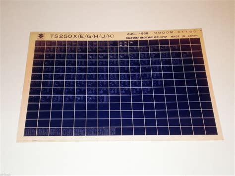 Husqvarna Motorrad Teilekatalog microfich teilekatalog ersatzteilkatalog suzuki ts 250