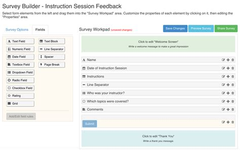 August 2015 Springshare Blog Bootstrap Survey Form Template Free