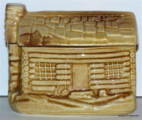 Mccoy Log Cabin Cookie Jar by Vintage Mccoy Log Cabin Cookie Jar Cookie Jars