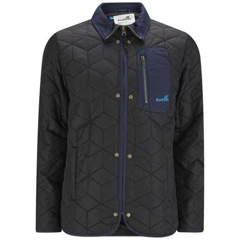 Mens Quilted Black Jacket by Boxfresh Mens Bristols Quilted Jacket Black Clothing