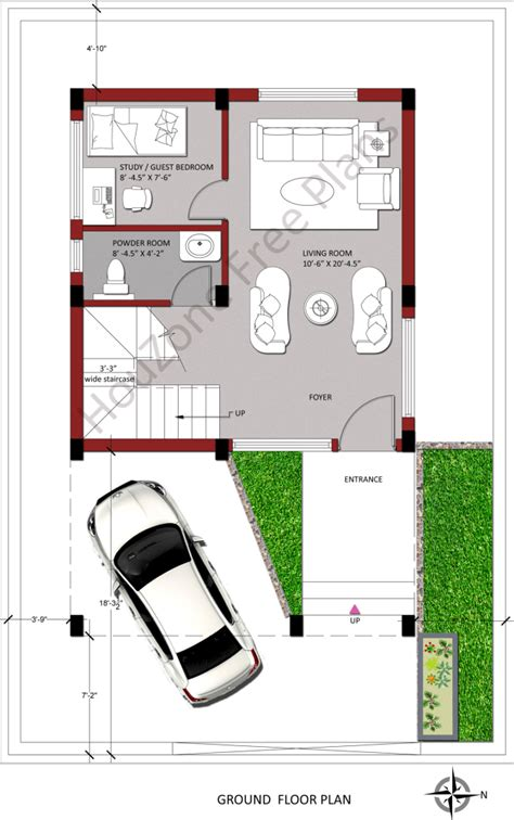 House Plans For 150 Square Yards Houzone Duplex House Plans 150 Sq Yards