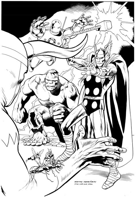 Kevin Nowlan: Avengers #1 cover recreation