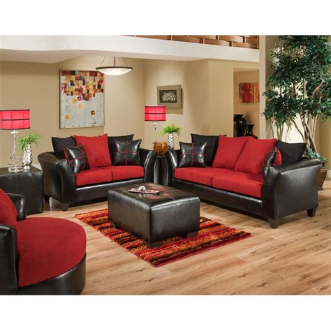 microfiber living room sets flash furniture riverstone victory lane cardinal