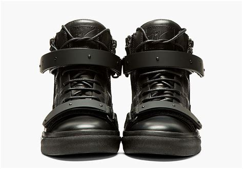 Giuseppe S Kitchen Nightmares by Giuseppe Zanotti Black Out Matte Leather Sneaker