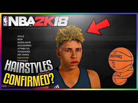 hairstyles nba 2k18 new hairstyles in nba 2k18 confirmed new dyed hairs and