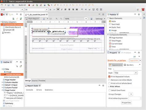 design jasper report using ireport creando informes en java con jasperreports desde