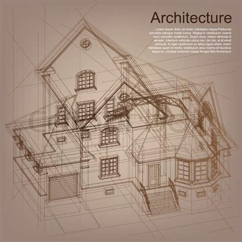 bauplan zeichnen vintage architektonischen hintergrund teil