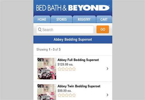bed bath and beyond website give and take user engagement with mobile sites science