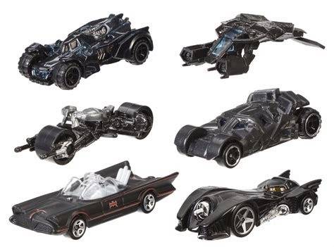 Hotwheels Batmobile Line batman batmobile 1 64 wheels random set of 4 diecast vehicles by mattel o ebay