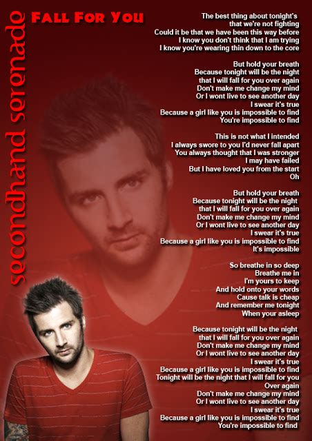 fall for you secondhand serenade mp3 quot fall for you quot by secondhand serenade lyrics picture