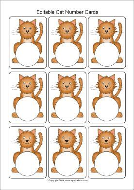 editable printable number cards editable cat number cards template sb10238 sparklebox
