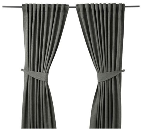 tie back curtains window treatments blekviva curtains with tie backs 1 pair contemporary