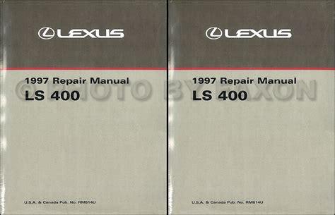 auto repair manual free download 1997 lexus ls parking system 1997 lexus ls 400 repair shop manual factory reprint 2 volume set