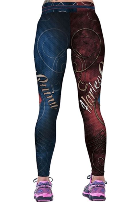 Code Shakira Legging Import Navy Blue womens harley quinn printed ankle length sports navy blue pink