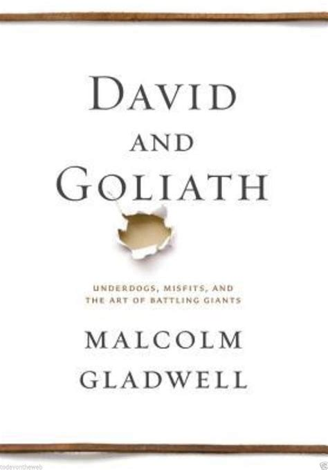 david goliath underdogs misfits the art of battling giants malcolm gladwell 316204366 ebay
