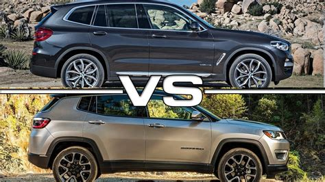 bmw jeep 2013 2018 bmw x3 vs 2017 jeep compass
