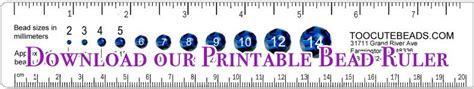 printable jewelry ruler printable bead ruler