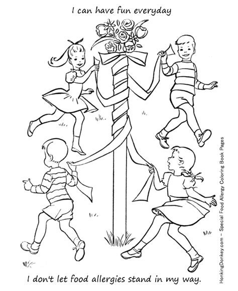 Food Allergy Coloring Page Learn And Teach Kids About