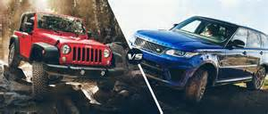 Range Rover Vs Jeep 2016 Jeep Wrangler Vs 2016 Land Rover