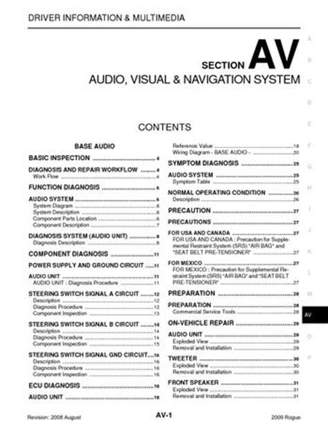download car manuals pdf free 2012 nissan versa engine control service manual automotive repair manual 2008 nissan rogue head up display service manual