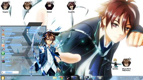download theme windows 7 guilty crown theme win 7 ouma shu guilty crown by bazzh