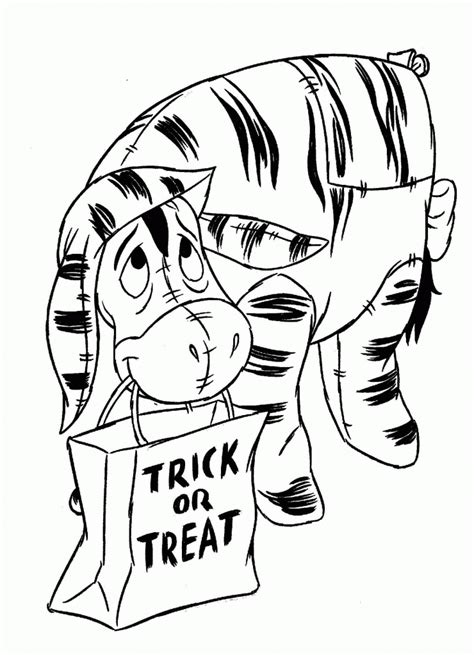 trick or treat coloring pages coloring home