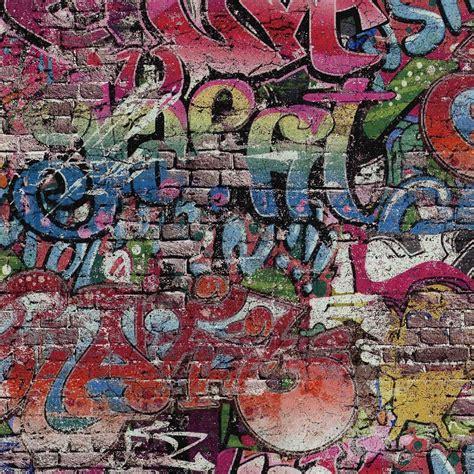 ps graffiti motif brick wall pattern urban childrens