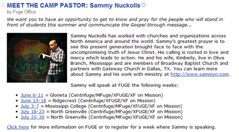 fbc jax watchdogs sbc lifeway s 2011 youth c pastor sammy nuckolls arrested for filming