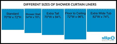 average shower curtain dimensions how long is a standard or extra long shower curtain liner