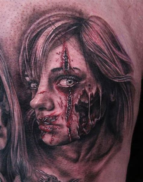 easy zombie tattoo 15 best unique scary halloween tattoo designs images