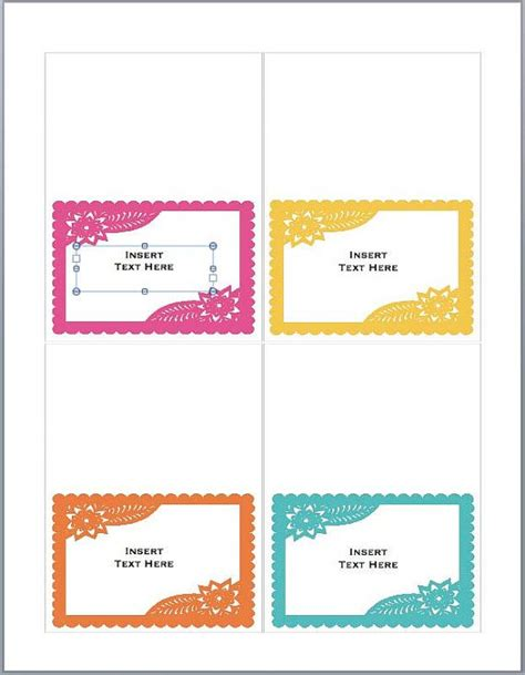 food tent card template mexican food tent cards place cards or food tents