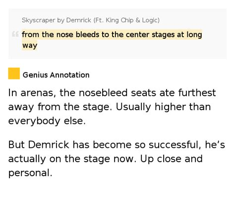 Nosebleed Section Lyrics by From The Nose Bleeds To The Center Stages At Way