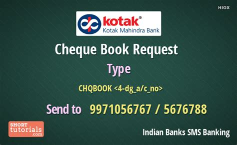 Offer Letter Of Kotak Mahindra Bank kotak mahindra bank request cheque book
