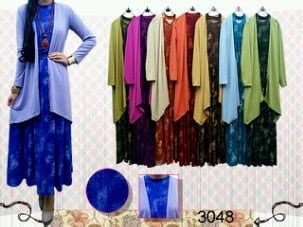 Gamis Sabrina Bahan Jersy Tebal divya fashion dress cardi qu