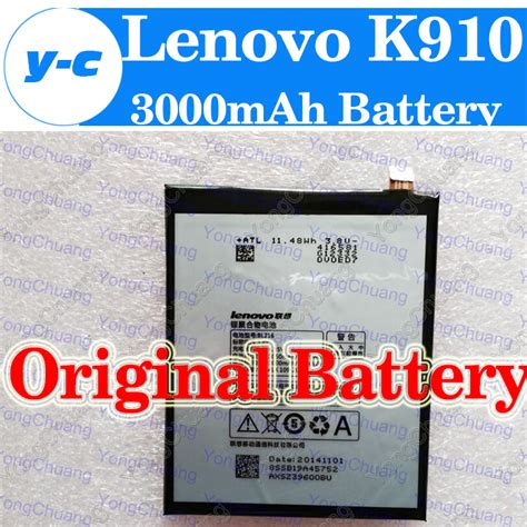 Diskon 100 Original Lenovo Battery Bl216 Vibe Z 100 new original bl216 3000mah battery for lenovo k910