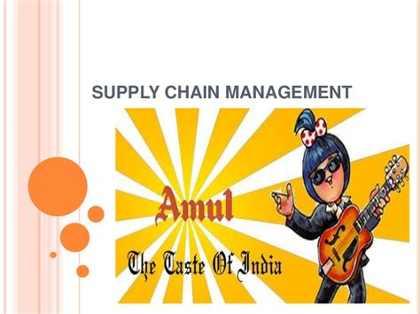 Supply Chain Management Pdf Mba by Amul Logistics