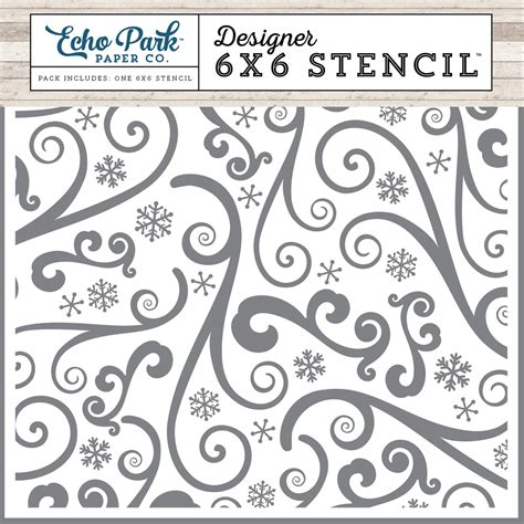 printable stencils for snow spray collections echo park paper co i love winter