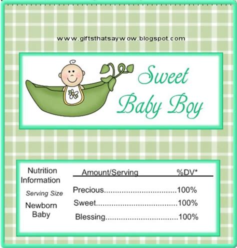 Candy Bar Wrapper Template Boys Cute Baby Shower Candy Wrapper For A Newborn Baby Boy Design Bar Wrappers Template For Baby Shower Printable Free