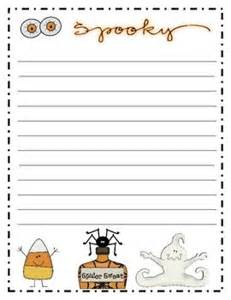 Halloween Writing Paper Template Halloween Writing Paper October Lessons Pinterest