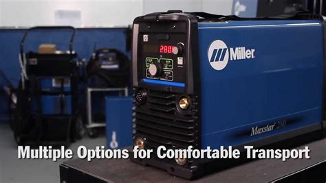 miller maxstar  tig welder delivers  power  capable  portable light weight package