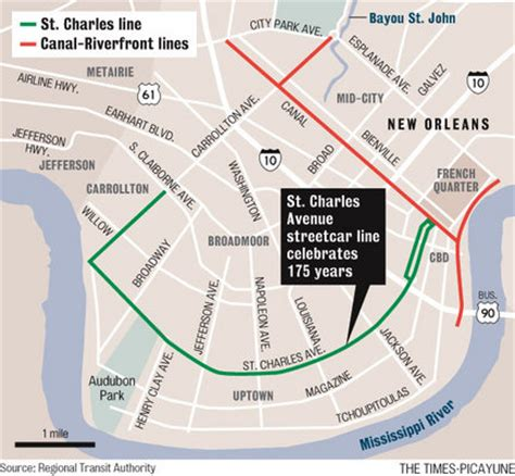new orleans streetcar map wyes tour celebrates 175 years of the st charles avenue