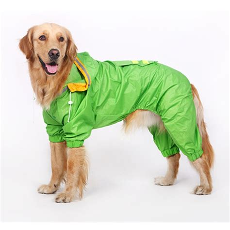 large raincoat high quality large raincoat clothes pet coat products four legs big