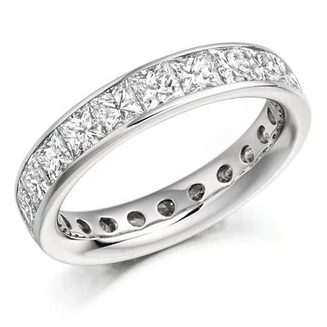 platinum 3 30ct princess cut eternity ring
