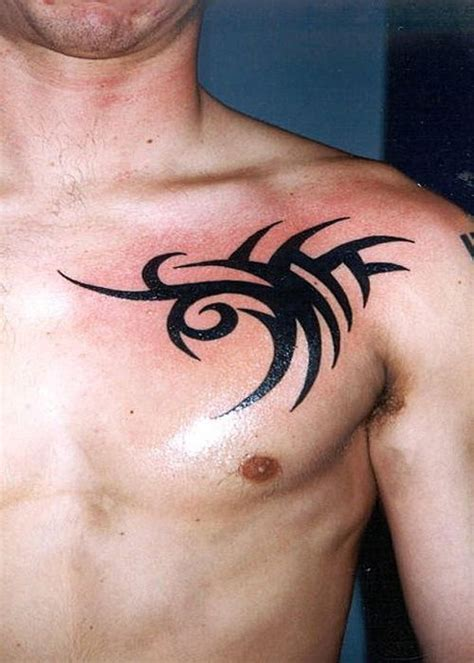 small nice tattoos for guys the best ideas of chest for tribal and small
