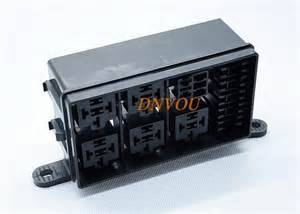 automotive fuse box with 6 way relay insurance block no 5 road relay block engine compartment