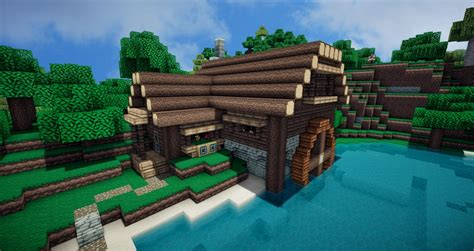 Houses Designs river house minecraft project