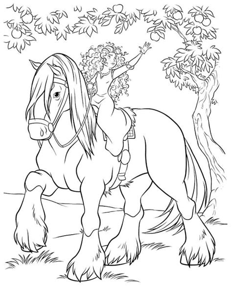 Brave Coloring Pages Princess Merida Coloring Pages For Brave Coloring Pages