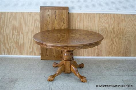 claw foot pedestal dining table vintage oak claw foot pedestal dining table